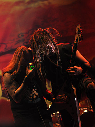 DevilDriver - Mike Spreitzer and Dez Fafara with DevilDriver at Paaspop 2014