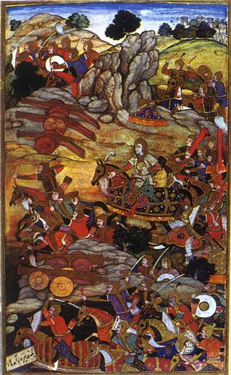 Ibrahim Lodi - Image: 1526 First Battle of Panipat Ibrahim Lodhi and Babur