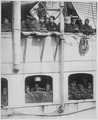 15th Infantry fighters home with War Crosses. French liner La France arrives with 15th Infantry . . . - NARA - 533550.tif