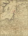 1757 Windaw detail of map Russians March to Prussia BPL 14326.png