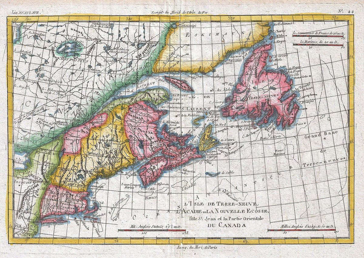 New England Canada Map 1780 File:1780 Raynal and Bonne Map of New England and the Maritime
