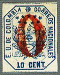 1863 10c EU de Colombia red 0 Sc25 MI19.jpg
