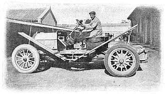 Luigi Barzini Sr. - The Itala which won the 1907 Peking to Paris race