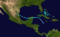 1909 Atlantic tropical storm 5 track.png