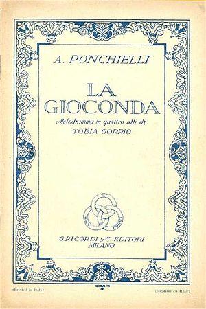 Italiano: Copertina del libretto d'opera