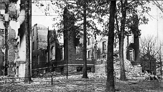 History of the University of Maryland, College Park - The remains of the administration building.
