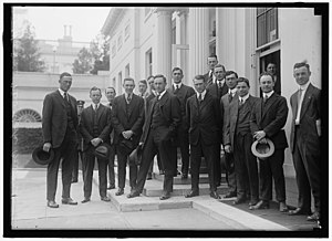 Slim Love - Love (far left) with other member of the 1916 Yankees at the White House.