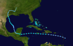1933 Atlantic tropical storm 3 track.png