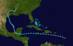 1933 Atlantika tropika ŝtormo 3 track.png