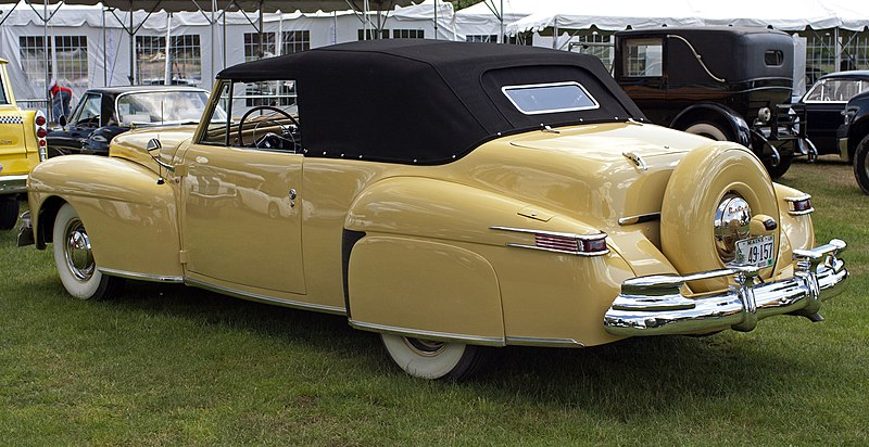 File:1948 Lincoln Continental V12 Cabriolet rear.jpg