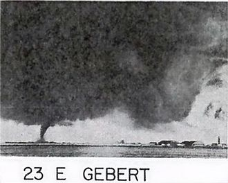 Fargo, North Dakota - F5 tornado as it approaches Hector International Airport, 1957