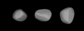 196 Philomela - A three-dimensional model of 196 Philomela based on its light curve.