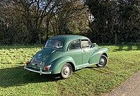 1970 Morris Minor 1000 Saloon Almond green rear.jpg