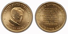 1983 Robert Frost One-Ounce Gold Medal.jpg