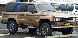 Toyota 4Runner - 1987–1989 Toyota 4Runner SR5 (Australia)