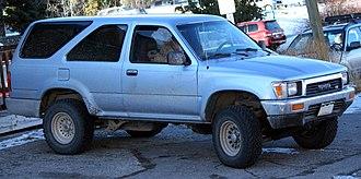 Toyota 4Runner - 1990–1991 Toyota 4Runner V6 with two-door bodywork (VZN130; US)