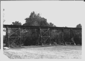 Little Pipe Creek bridge and viaduct - Looking westward at Frederick county spans, taken in 1991