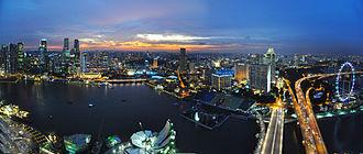 Marina Bay, Singapore - Image: 1 Singapore skyline