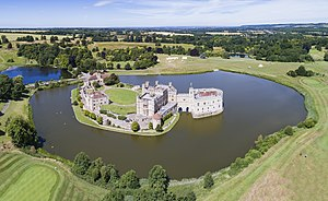 Leeds Castle - An aerial panorama of Leeds Castle