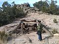 2-50 old small mine, filled in, E side of 10 m hill, just W of Rancho Alegre Road, just S of Coyote Drive - panoramio.jpg