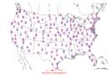 2006-01-27 Max-min Temperature Map NOAA.png
