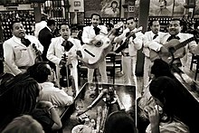 Mariachi band playing at the Tenampa in Mexico City