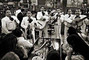 Mariachi - Mariachis playing at the Tenampa in Mexico City