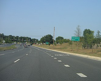 Maryland Route 450 - MD 450 eastbound east of MD 193 in Prince George's County