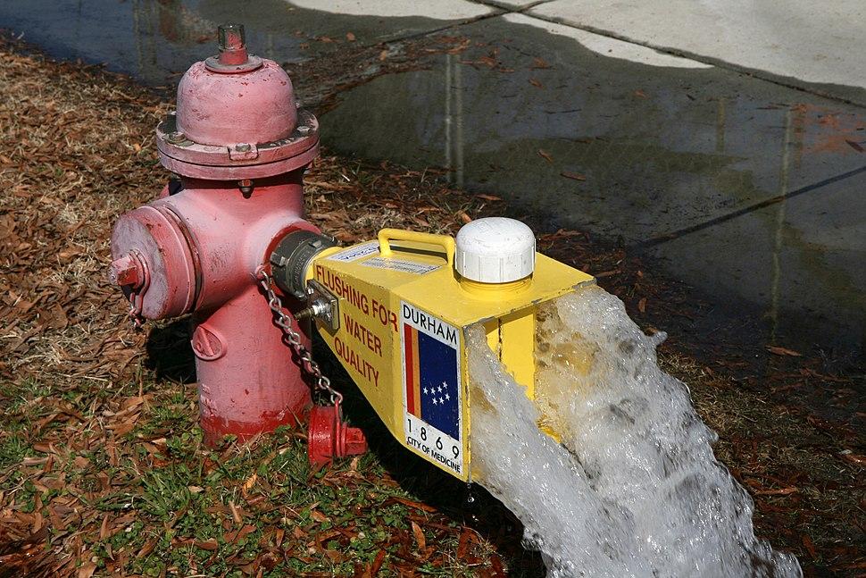 2011-02-12 Fire hydrant flushing 1
