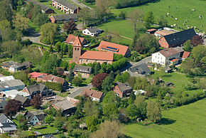 Aerial photo with St. George Church