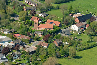 Nordholz - Aerial photo with St. George Church
