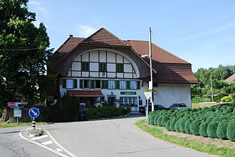 Golaten - The half-timbered Restaurant Hirschen in Golaten