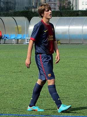 Sergi Canós - Canós playing for Barcelona in 2012.