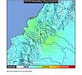 2013 Nariño earthquake ShakeMap.jpg