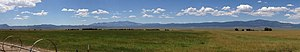 Shoshone, Nevada - Image: 2014 08 09 13 04 29 Panorama of ranches in Shoshone, Nevada from Nevada State Route 894 (Shoshone Road) about 1.1 miles north of the end of pavement cropped