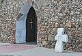 2014 Kamienica, kościół św. Jerzego, mur 14.JPG