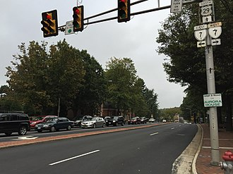 Falls Church, Virginia - The junction of US 29 and SR 7 in Falls Church