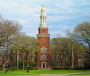 "Brooklyn College - The Library, part of the original campus laid out by Philip Randolph, now known as ""East Quad"""