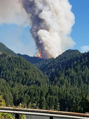 Eagle Creek Fire - The fire on September 2, 2017