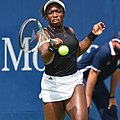 2017 US Open Tennis - Qualifying Rounds - Sachia Vickery (USA) def. Jamie Loeb (USA) (36981793662).jpg