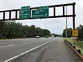 2018-09-12 15 33 04 View south along New Jersey State Route 444 (Garden State Parkway) at Exit 67B (Ocean County Route 554 WEST, Pemberton) in Barnegat Township, Ocean County, New Jersey.jpg