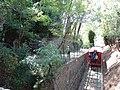 2018-09-14 Funicolare di Montecatini vista dal ponticello a metà percorso 25.jpg