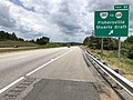 2019-06-06 12 59 41 View west along Interstate 64 at Exit 91 (Virginia State Route 285, TO Virginia State Route 608, Fishersville, Stuarts Draft) in Fishersville, Augusta County, Virginia.jpg