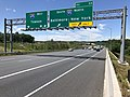 2019-06-14 14 13 43 View west along the Outer Loop of the Baltimore Beltway (Interstate 695) at Exit 33 (Interstate 95, New York, Baltimore) on the edge of Rosedale and Rossville in Baltimore County, Maryland.jpg
