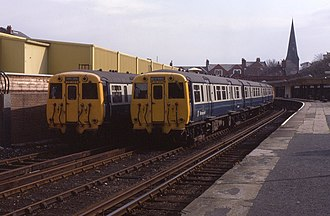 New Brighton railway station - Image: 24.09.83 New Brighton Class 503s (5958458123)