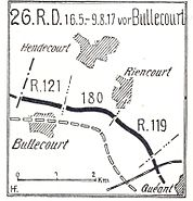 26.Res.-Div. August 1917 Bullecourt