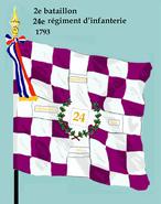 2e bataillon 24e rég inf 1793