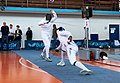 2nd Leonidas Pirgos Fencing Tournament. Ahmed Alhoussain scores a foot touch.jpg