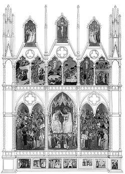 31 Jacopo di Cione. Polyptych San Pier Maggiore, 1370-71 London NG. Reconstruction..jpg