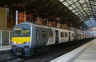East Anglia franchise - National Express East Anglia 321311 at Liverpool Street station